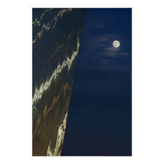 The St. Louis Arch and the Moon Poster
