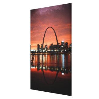 The St. Louis Arch at Dusk Photograph Canvas Print