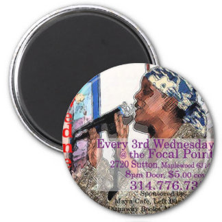 The St Louis Poetry Slam shwag Refrigerator Magnets