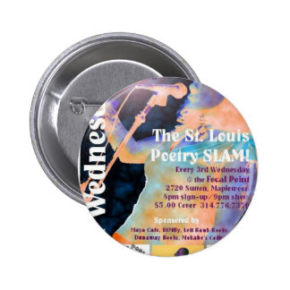 The St. Louis Poetry Slam shwag Pinback Button