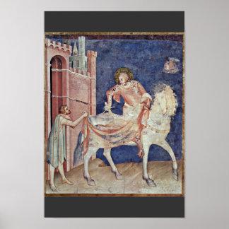 The St. Martin Dividing His Cloak By Martini Simon Print