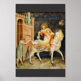 The St. Martin Dividing His Cloak By Martini Simon Poster