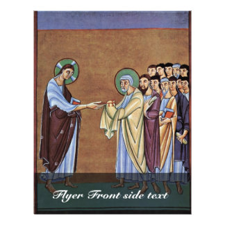 The St. Peter Receiving The Keys By Meister Des Pe Flyer Design