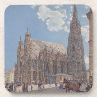 The St. Stephen's Cathedral in Vienna by Rudolf Beverage Coaster
