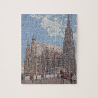 The St. Stephen's Cathedral in Vienna by Rudolf Jigsaw Puzzle