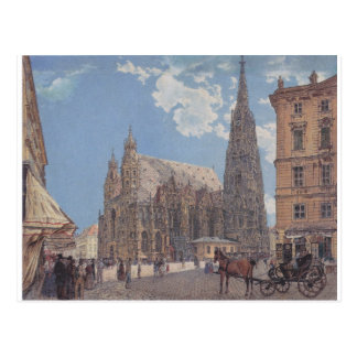 The St. Stephen's Cathedral in Vienna by Rudolf Postcard