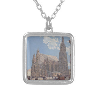 The St. Stephen's Cathedral in Vienna by Rudolf Silver Plated Necklace