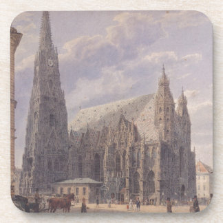 The St. Stephen's Cathedral in Vienna by Rudolf vo Beverage Coaster