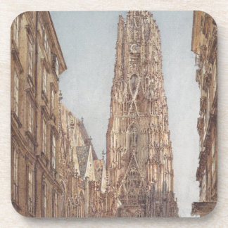 The St. Stephen's Cathedral in Vienna by Rudolf vo Drink Coaster