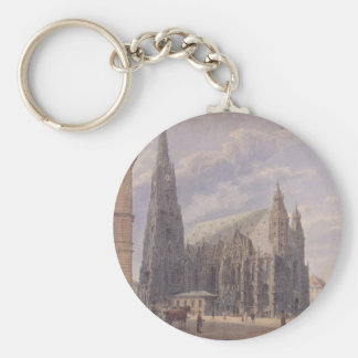 The St. Stephen's Cathedral in Vienna by Rudolf vo Keychain