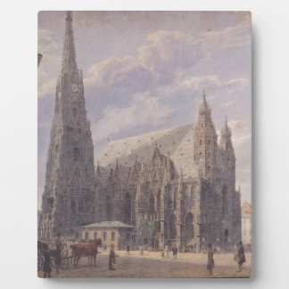 The St. Stephen's Cathedral in Vienna by Rudolf vo Plaque