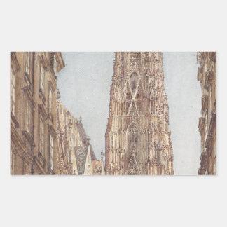 The St. Stephen's Cathedral in Vienna by Rudolf vo Rectangular Sticker