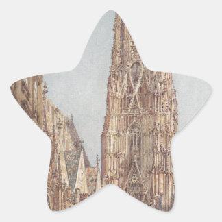 The St. Stephen's Cathedral in Vienna by Rudolf vo Star Sticker