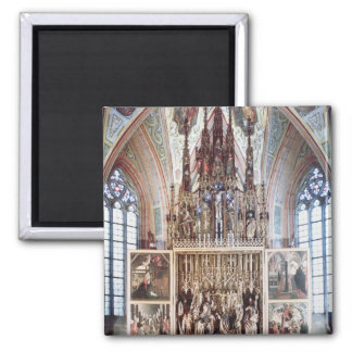 The St. Wolfgang Altarpiece  1471-81 2 Inch Square Magnet