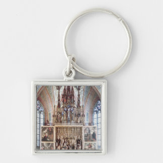The St. Wolfgang Altarpiece  1471-81 Silver-Colored Square Keychain