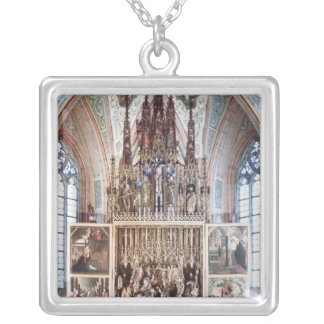 The St. Wolfgang Altarpiece  1471-81 Square Pendant Necklace