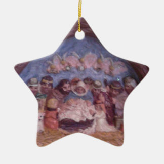 """""""THE STABLE CHRISTMAS ORNAMENT"""" CERAMIC ORNAMENT"""