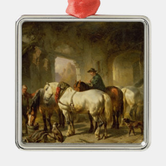 The Stable Metal Ornament