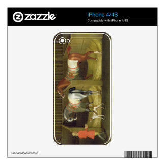 The Stables and Two Famous Running Horses belongin iPhone 4 Skins