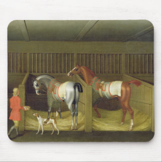 The Stables and Two Famous Running Horses belongin Mouse Pad