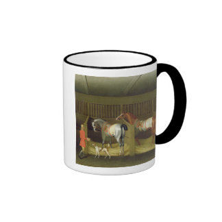 The Stables and Two Famous Running Horses belongin Mugs