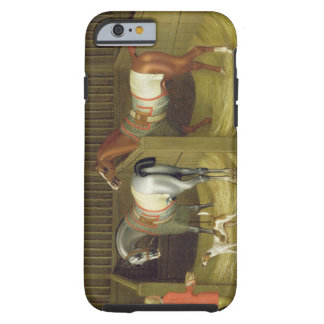 The Stables and Two Famous Running Horses belongin Tough iPhone 6 Case