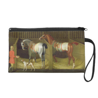 The Stables and Two Famous Running Horses belongin Wristlet Purse