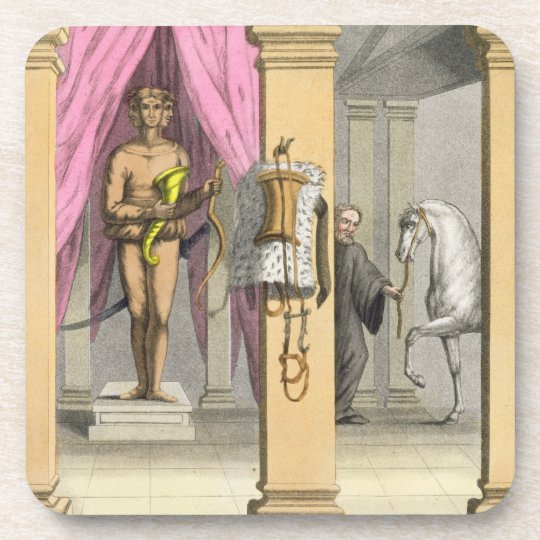 The stables of Caligula's horse, Incitata, c.1800- Beverage Coaster