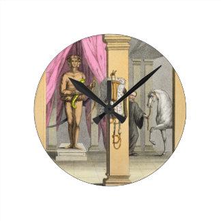 The stables of Caligula's horse, Incitata, c.1800- Round Clock