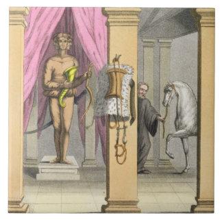 The stables of Caligula's horse, Incitata, c.1800- Tile