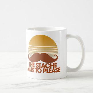 The Stache Aims to Please Coffee Mug