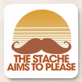 The Stache Aims to Please Drink Coaster