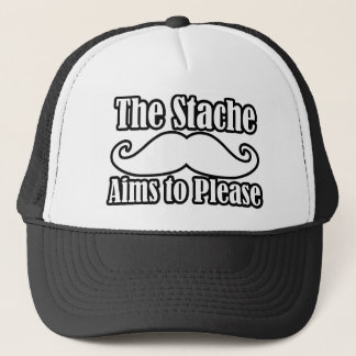 The Stache Aims to Please in  Trucker Hat