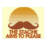 The Stache Aims to Please Postcard