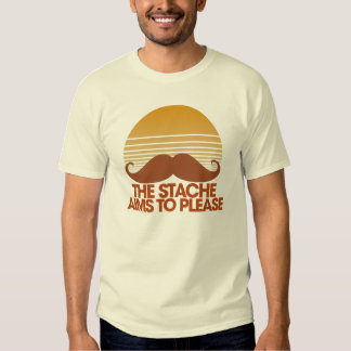 The Stache Aims to Please T Shirt