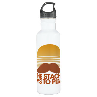 The Stache Aims to Please Water Bottle