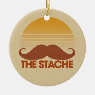 The Stache Ceramic Ornament
