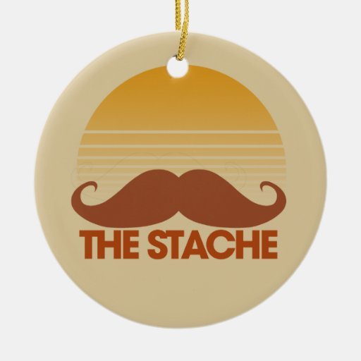 The Stache Christmas Ornaments