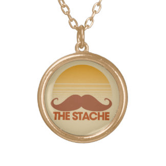 The Stache Gold Plated Necklace