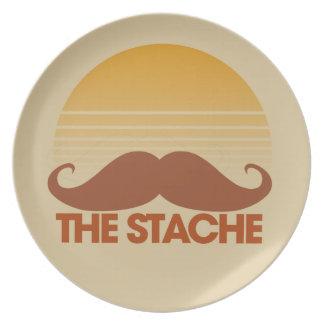 The Stache Melamine Plate
