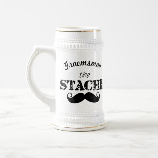 The Stache Moustache Pattern Beer Stein