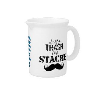 The Stache Moustache Pattern Beverage Pitcher