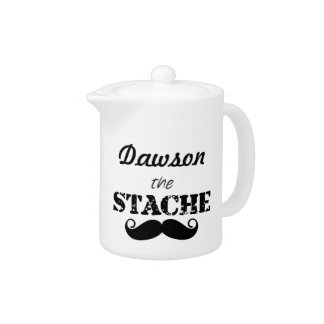 The Stache Moustache Pattern Teapot