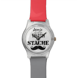 The Stache Moustache Pattern Wrist Watch