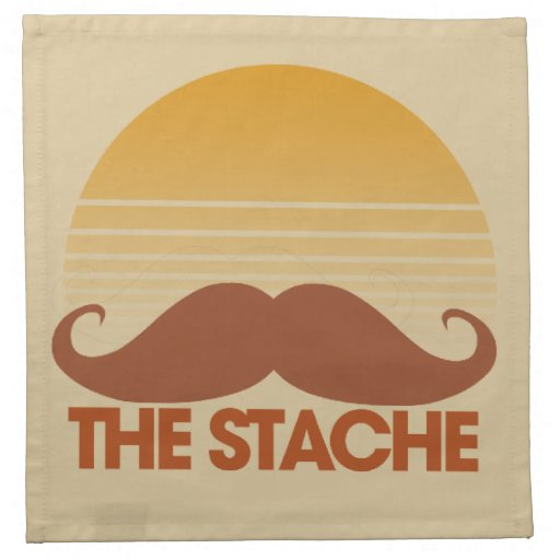 The Stache Printed Napkins