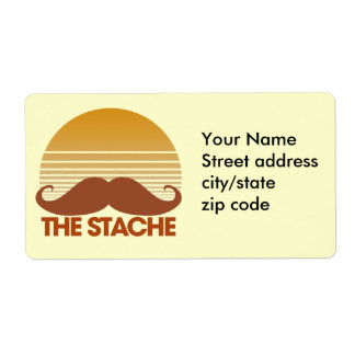 The Stache Retro Design Label