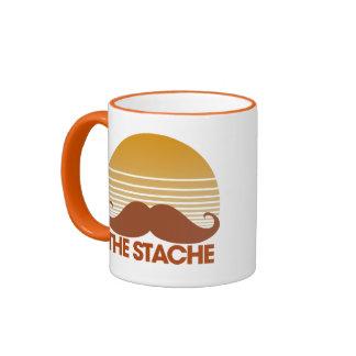The Stache Retro Design Ringer Coffee Mug