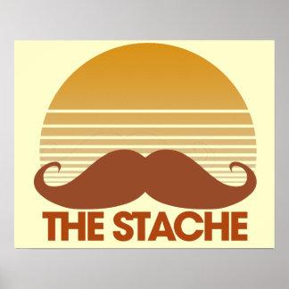 The Stache Retro Design Poster