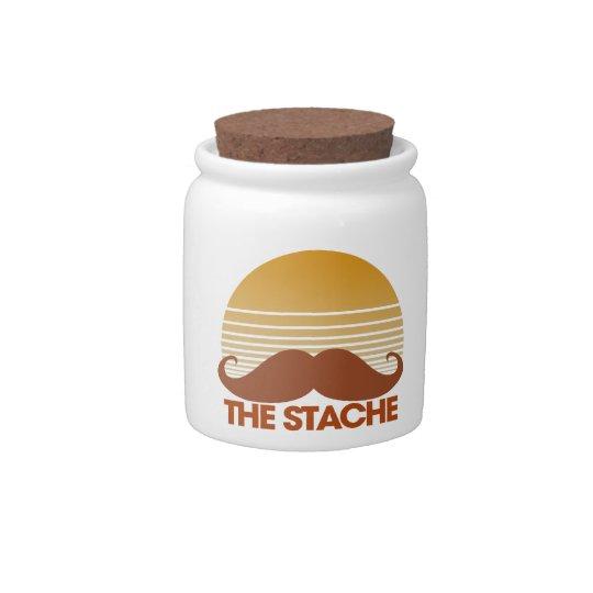 The Stache Retro Mustache Design Candy Jars