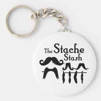 The Stache Stash Keychain
